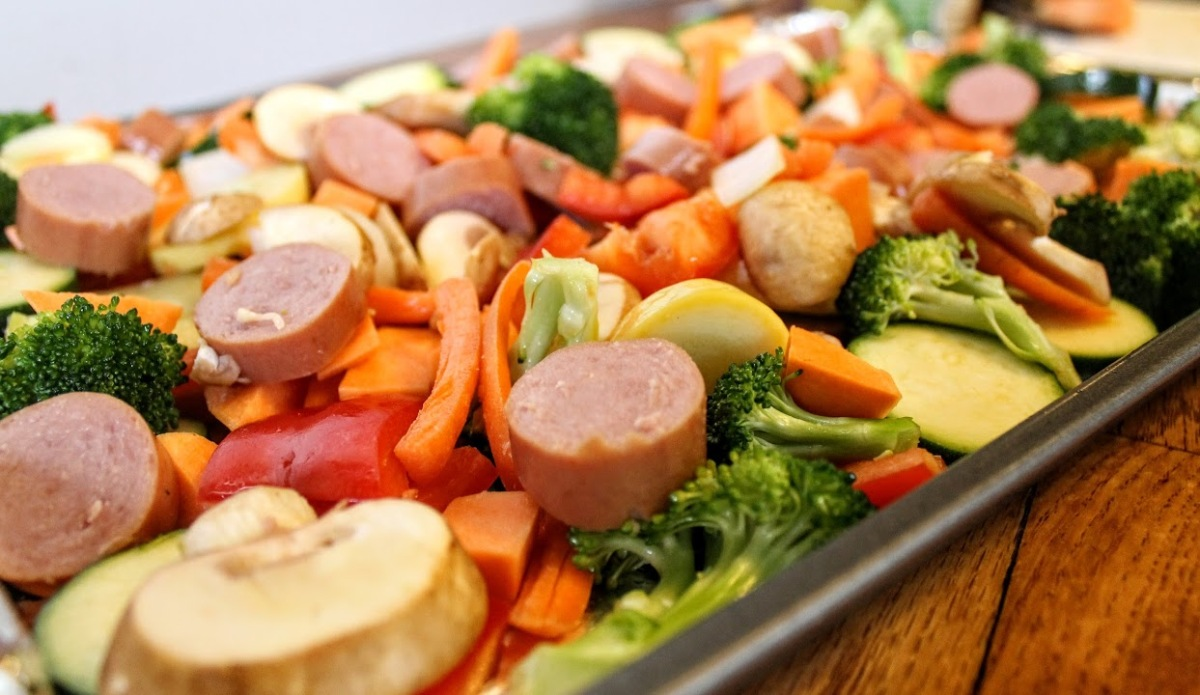 Turkey Sausage and Veggie Bake